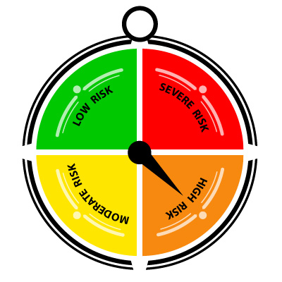 Orange Compass - High Risk of Covid Transmission